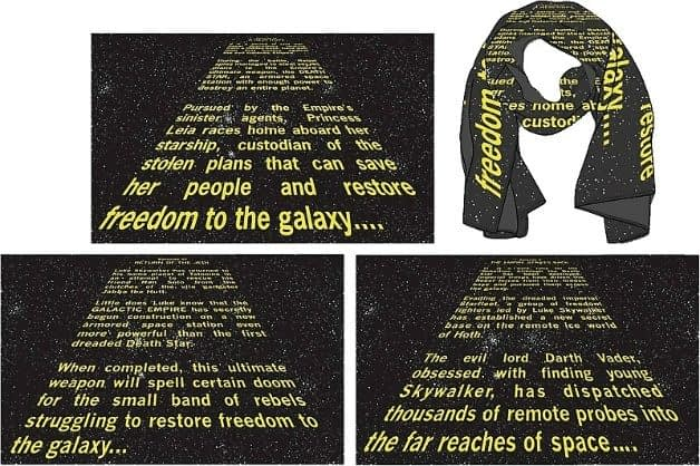 We All Need These Star Wars Opening Crawl Scarves