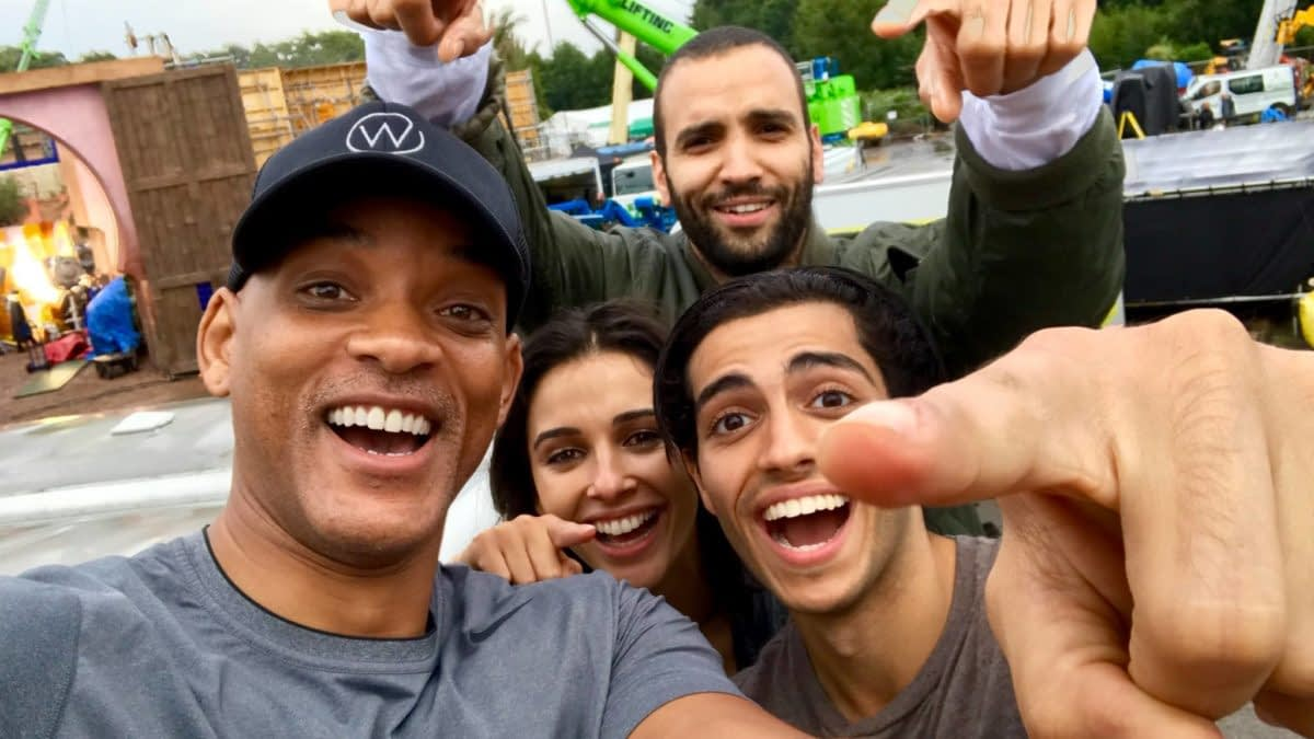 Aladdin Has Started Shooting, Will Smith Posts A Behind-The-Scenes Picture