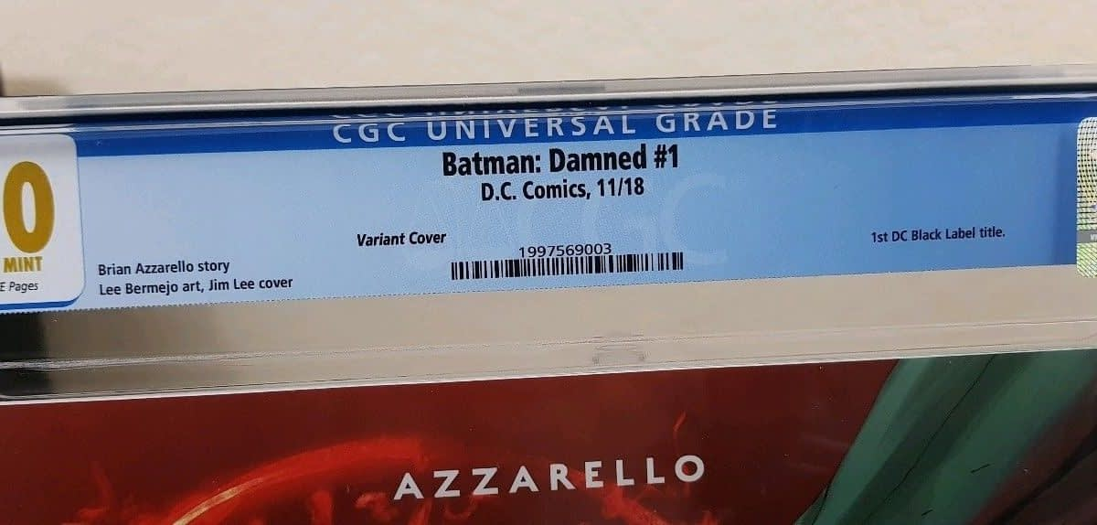 Batman Damned #1 CGC 10.0 Sells For $1800 on eBay