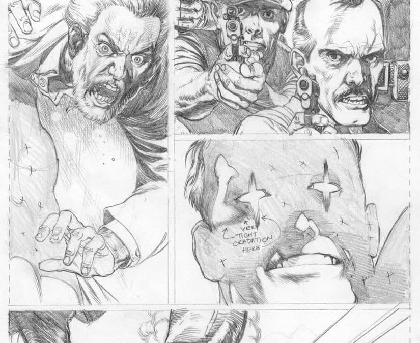 Pages Six And Ten In Pencils From Action Comics #1