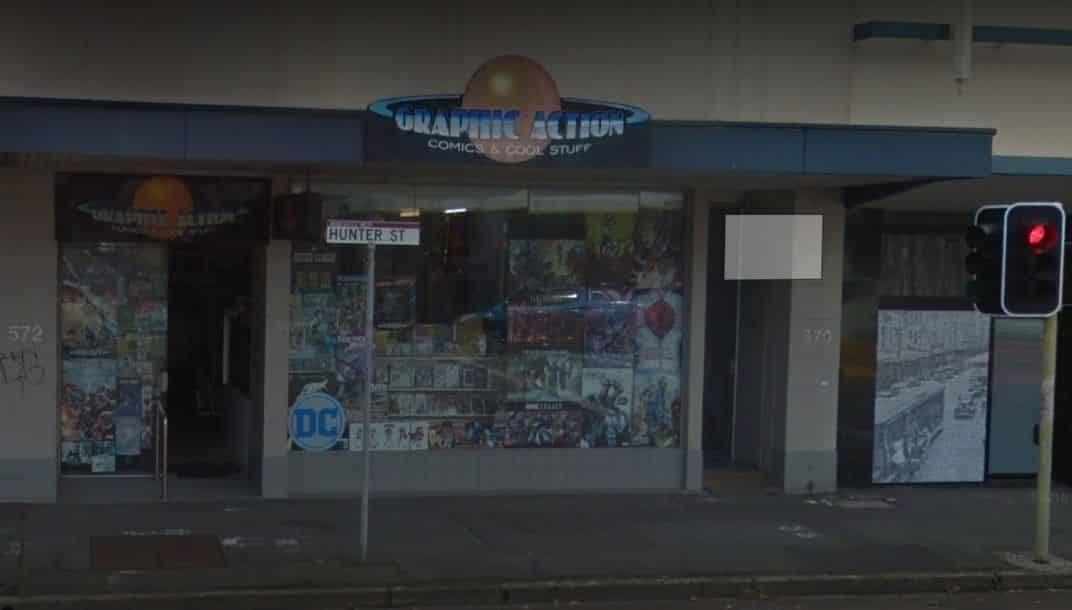 Graphic Action Comics of Newcastle, Australia, is Closing