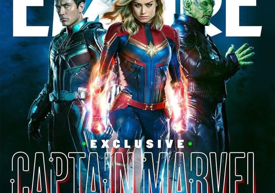 'Captain Marvel' Empire Magazine Cover, Starforce, and the Skrulls