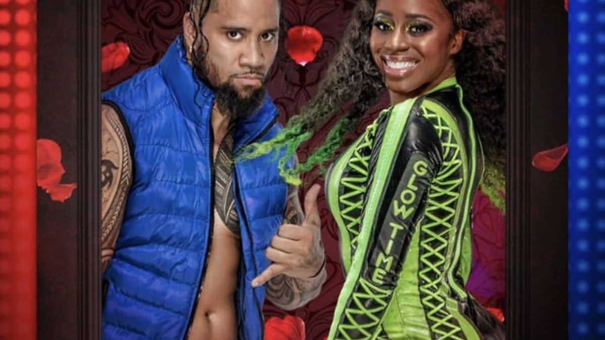 WWE Trading Card Set Ships Jey Uso with Naomi... His Brother Jimmy's Wife!