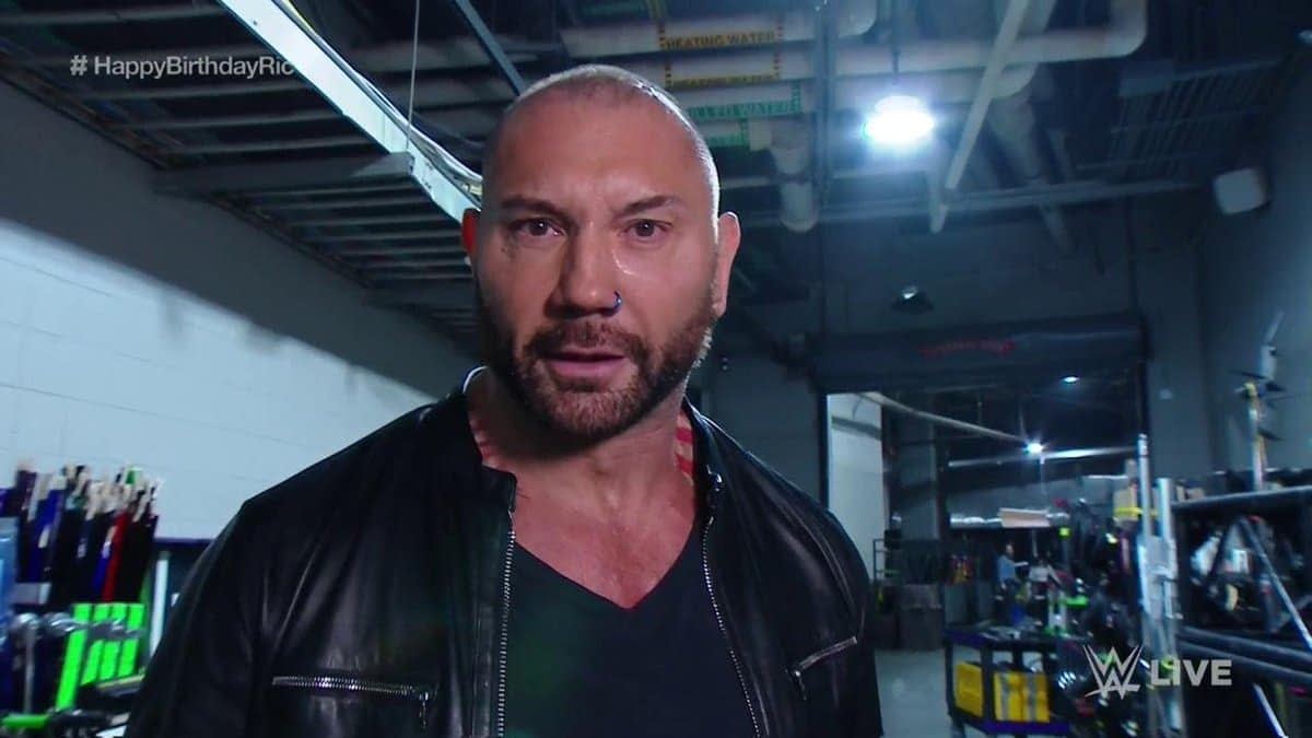 Dave Bautista Returns to WWE to Attack Ric Flair at His Birthday Party
