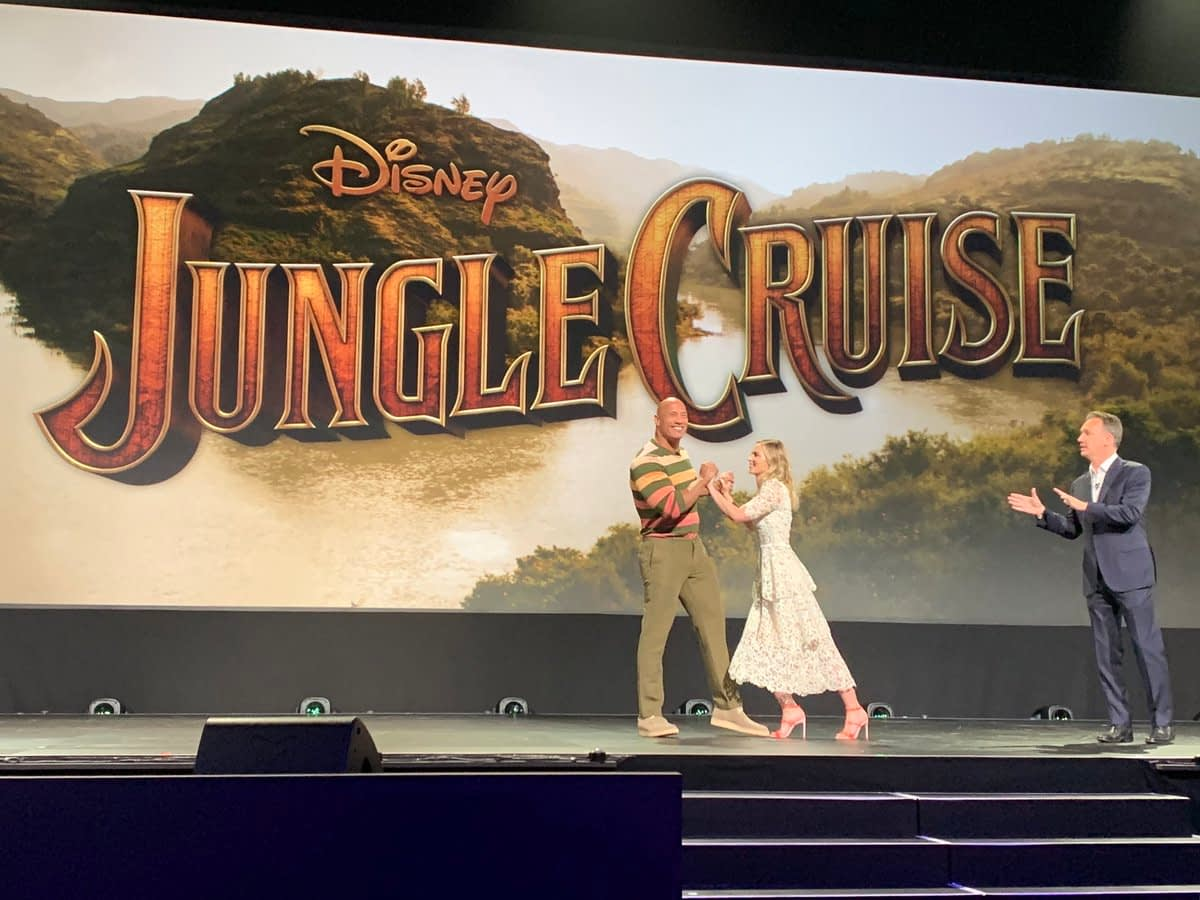 Emily Blunt and Dwayne Johnson fight about who's better on the Jungle Cruise