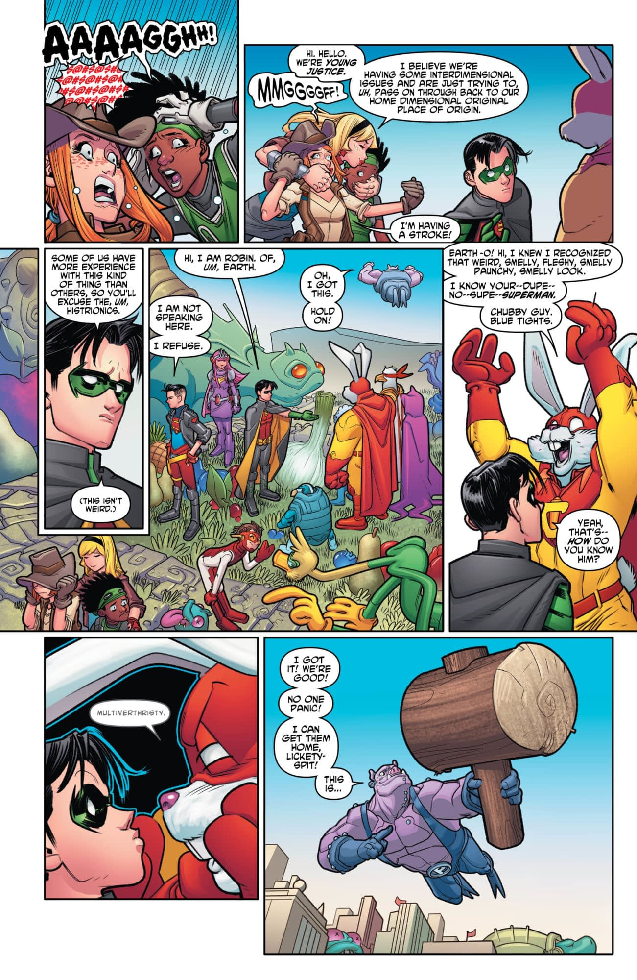 Young Justice #7: Crossing Over With Captain Carrot [Preview]