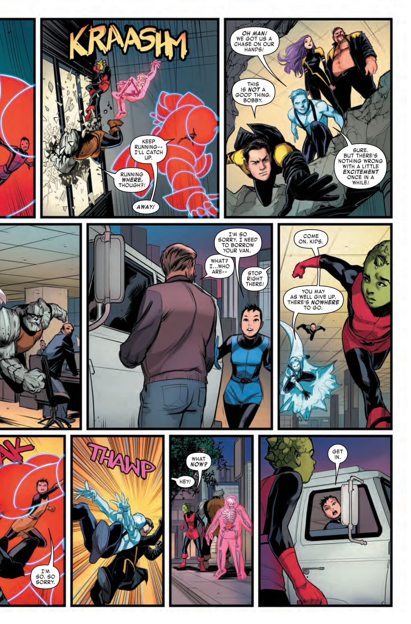 A Close Call for Anole in Age of X-Man: Next Gen #5 (Preview)