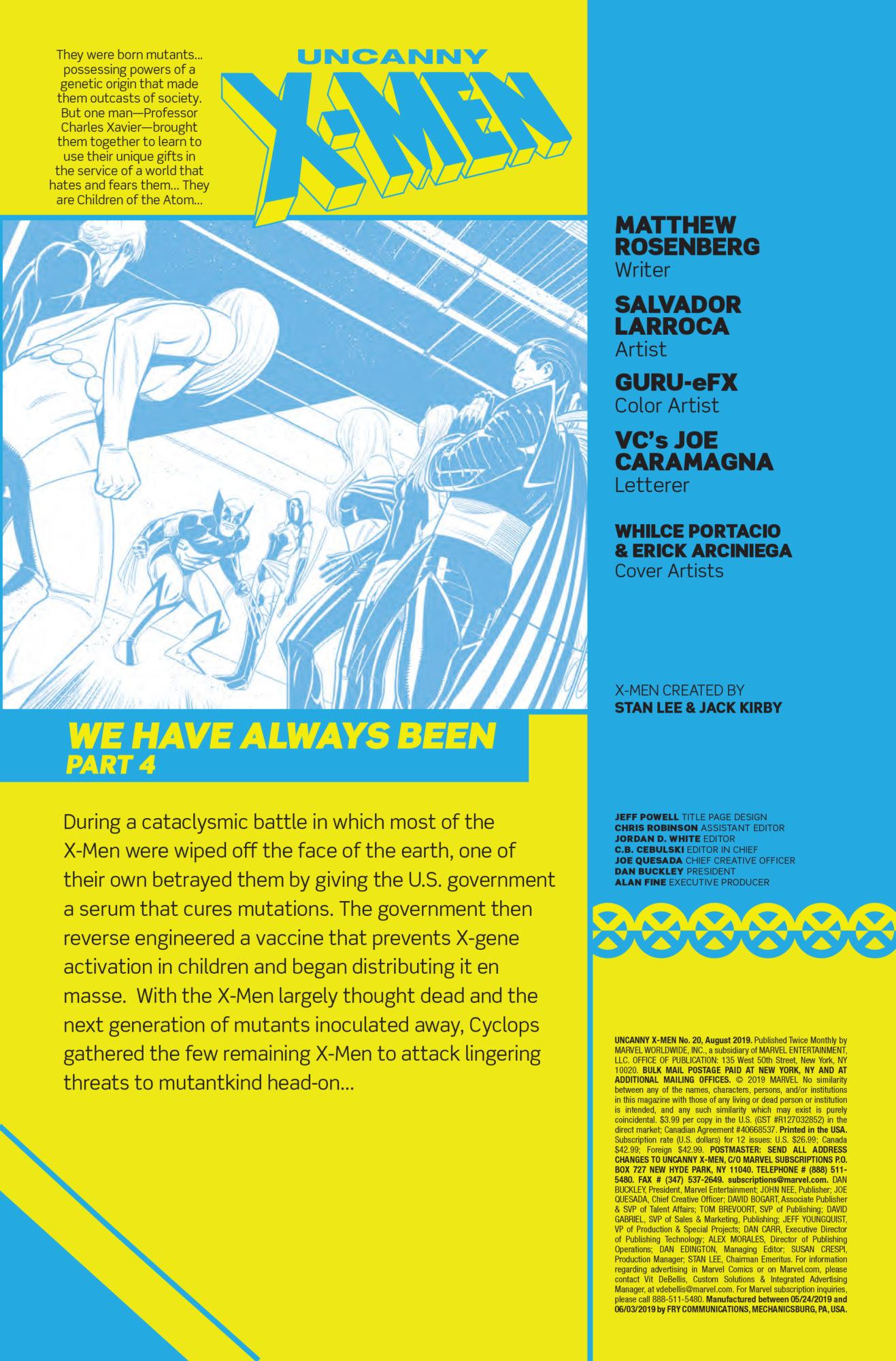 An Anti-Vaxxer's Nightmare in Uncanny X-Men #20