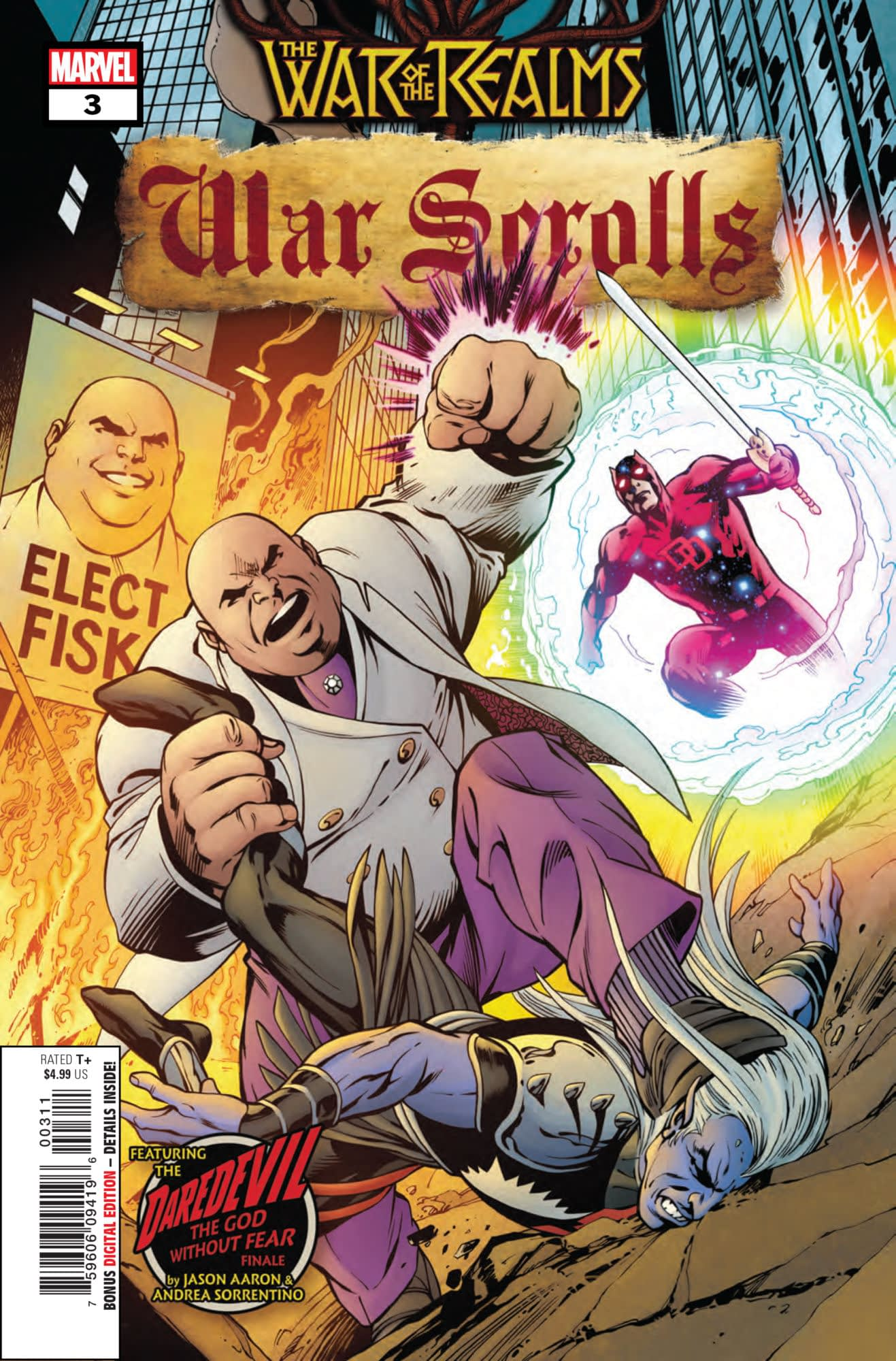 Daredevil Gains an Unfair Advantage in War of the Realms: War Scrolls #3 (Preview)