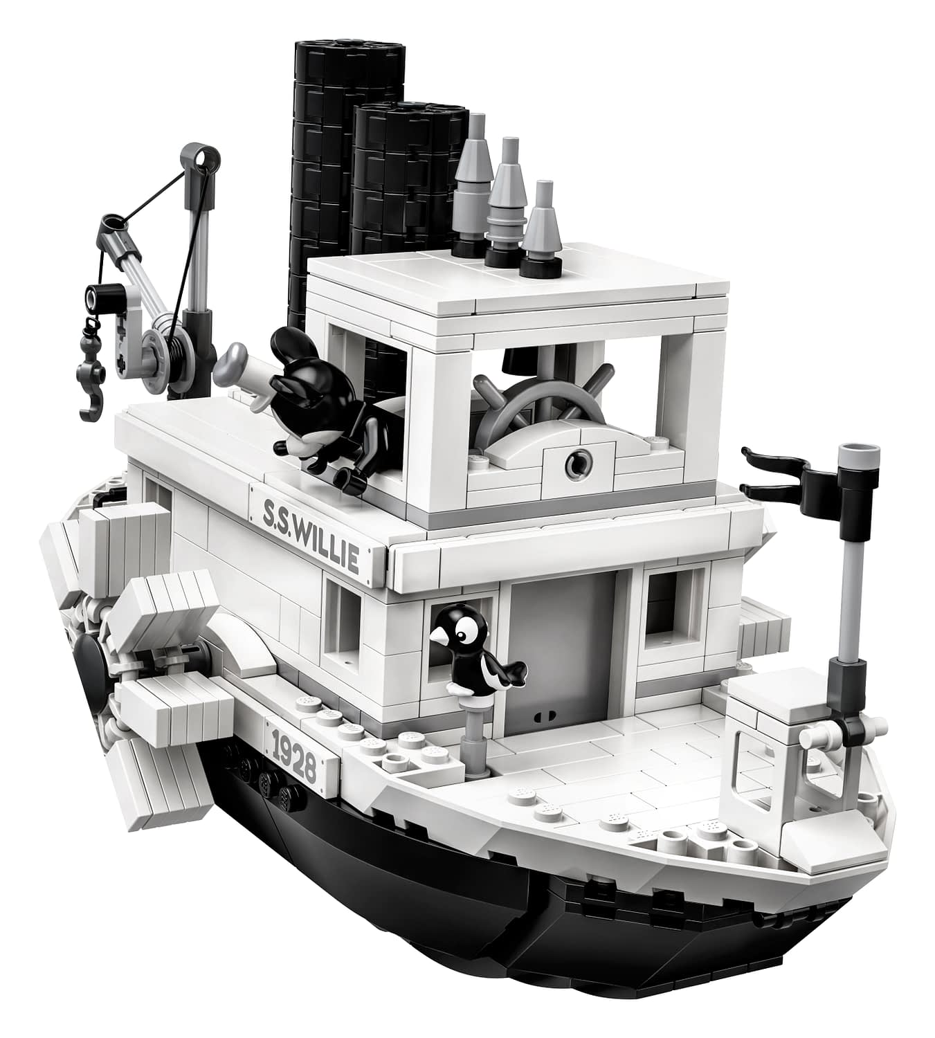 LEGO Ideas Steamboat Willie Mickey and Minnie Mouse Set 8