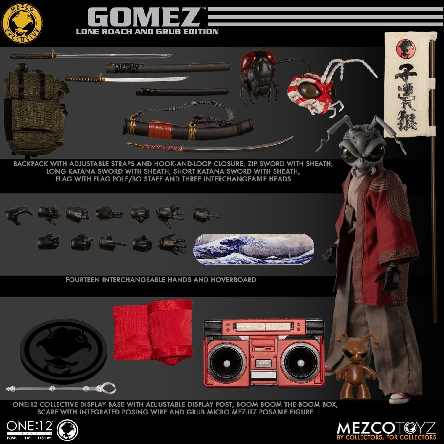 Gomez: Lone Roach and Grub Get a One:12 Figure from Mezco Toyz