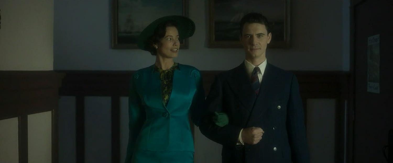 Harry Lloyd and Stephanie Corneliussen as Charles Xavier and Gabrielle Haller
