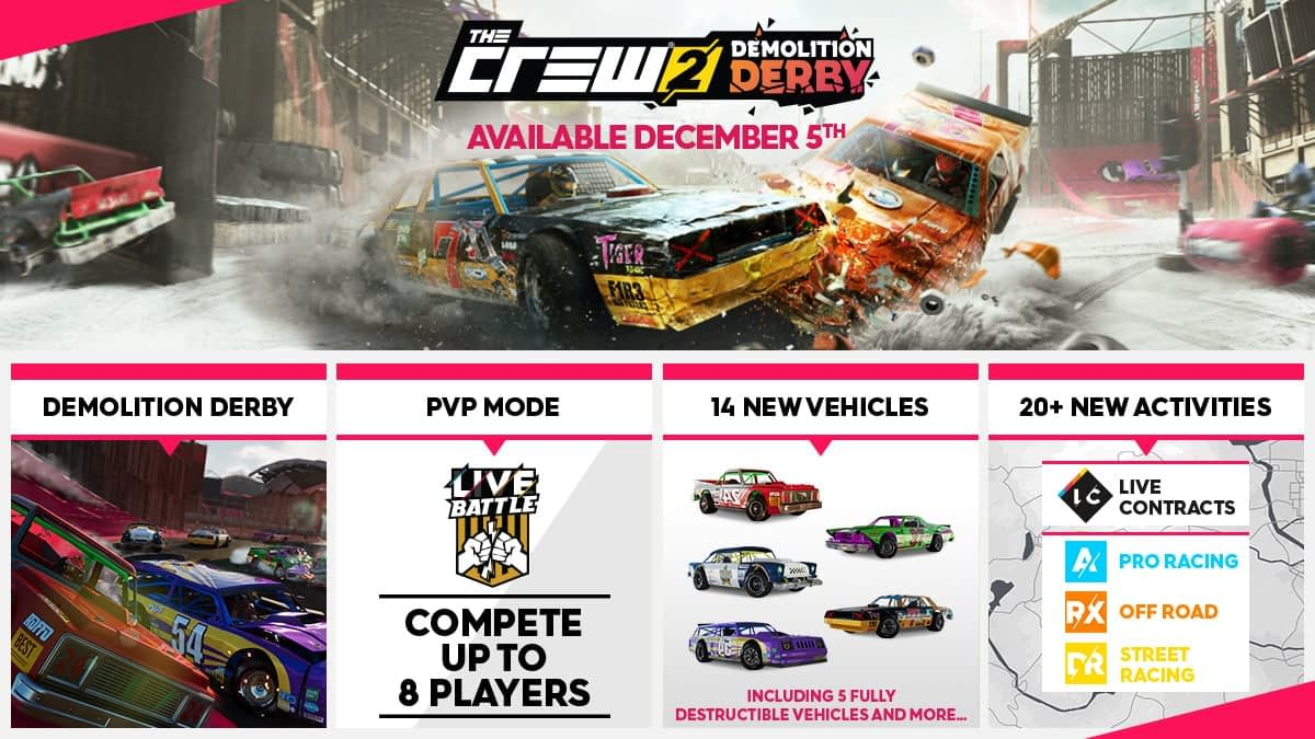 The Crew 2 is Getting a Demolition Derby Update from Ubisoft