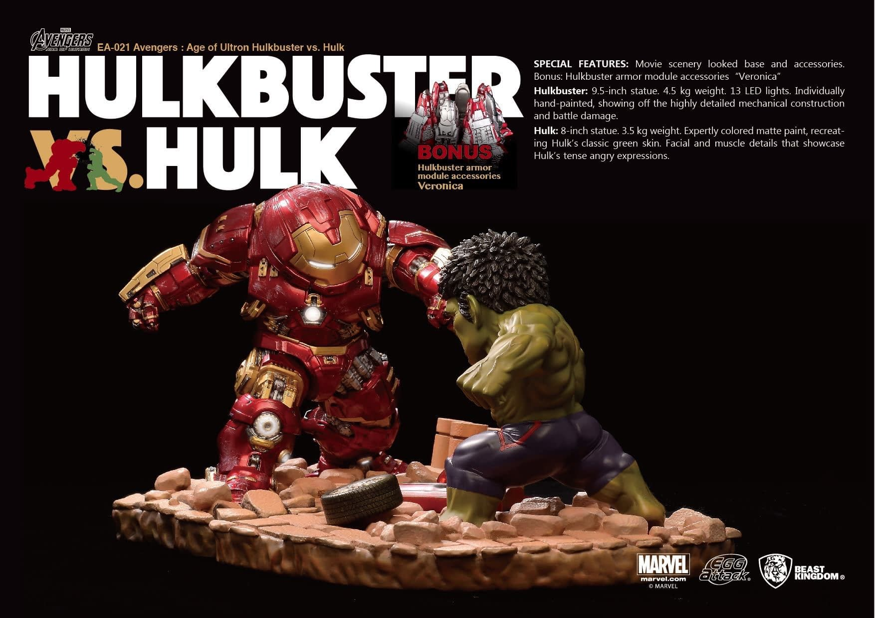 Hulkbuster Takes on the Hulk in the New Beast Kingdom Statue Set