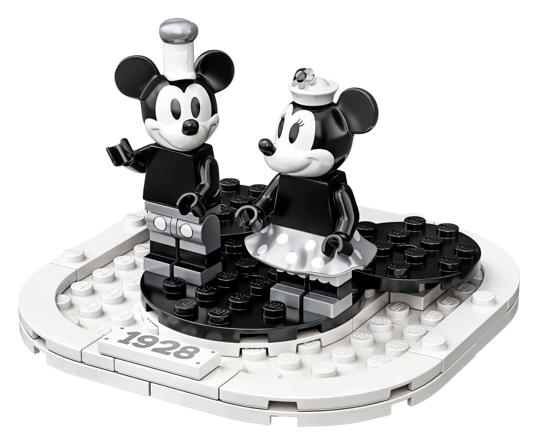 LEGO Ideas Steamboat Willie Mickey and Minnie Mouse Set 5