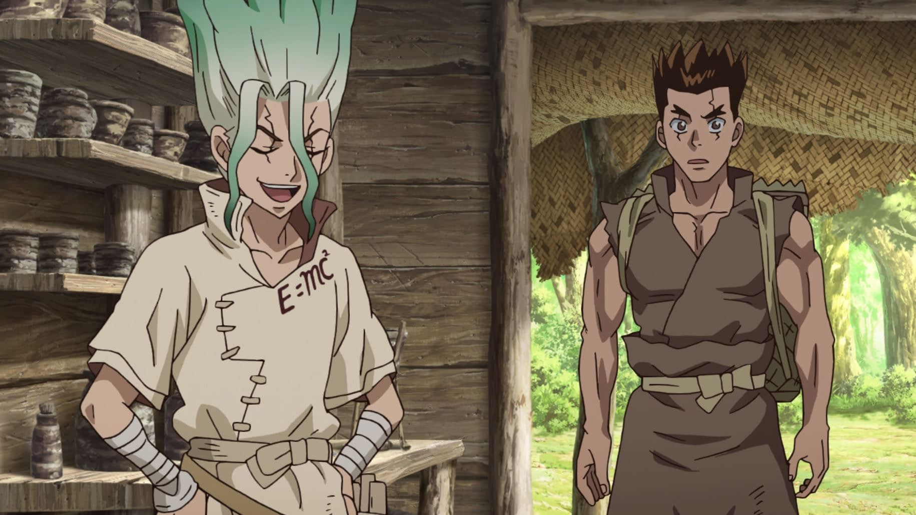 "'Dr. Stone"" Season One, Episode One: ""Stone World"" from Crunchyroll"