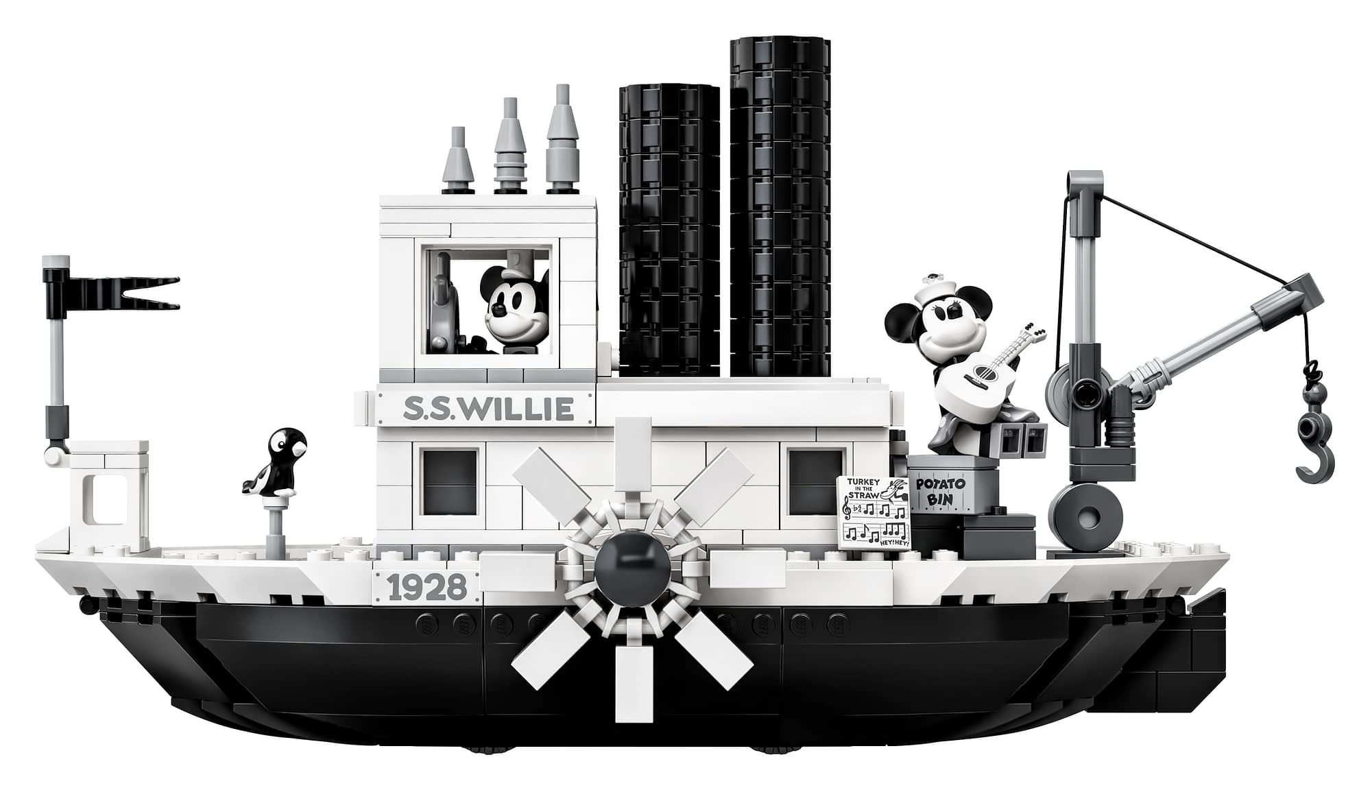 LEGO Ideas Steamboat Willie Mickey and Minnie Mouse Set 2