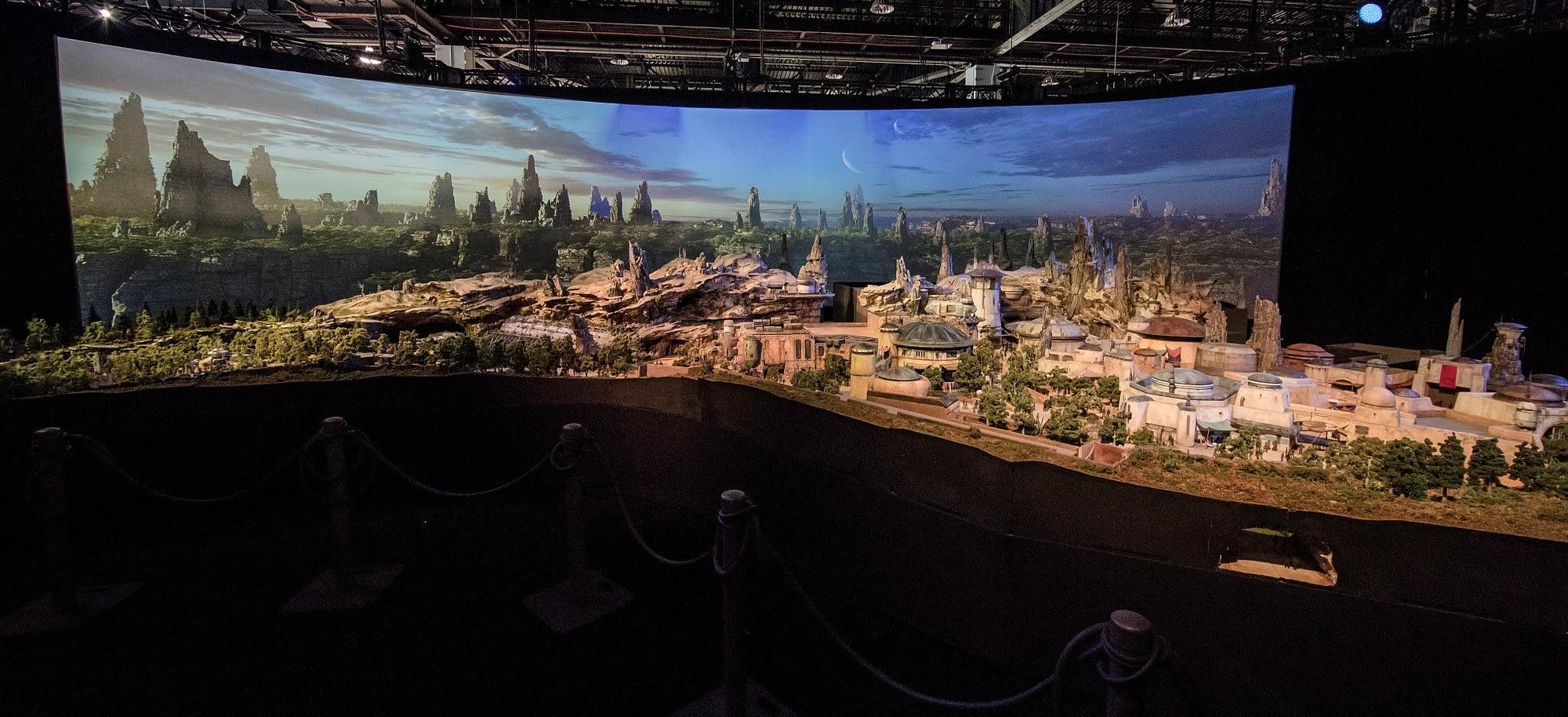 Star Wars Land D23 Reveal Model