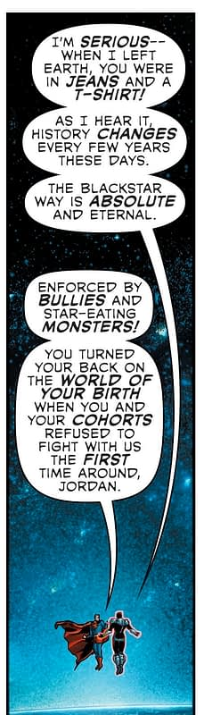 Grant Morrison Dissing Current Stae Of DC Comics in Green Lantern: Blackstars