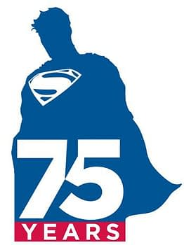 75 years of superman logo