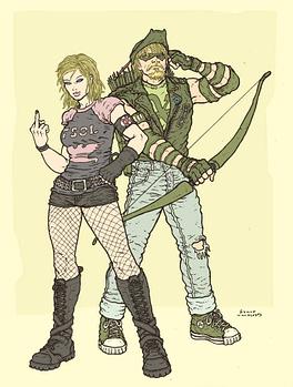 Black Canary and Green Arrow by Ramon Marcus Villalobos