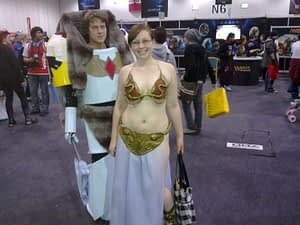 """It wouldn't be cosplay without one slightly chubby bespectacled Slave Princess Leia!"""