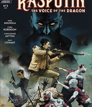 Rasputin: Voice of the Dragon #3 cover by Mike Huddleston