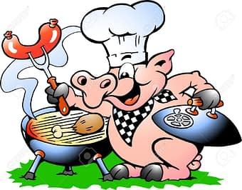 17437832-Hand-drawn-Vector-illustration-of-an-Chef-Pig-standing-and-making-BBQ--Stock-Vector