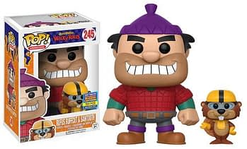 SDCC Funko hanna Barbera Wacky races Rufus Ruffcut and Sawtooth