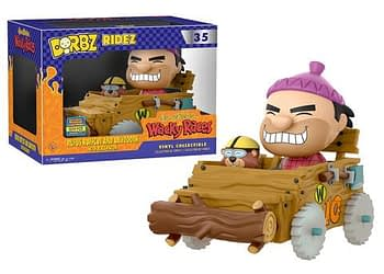 SDCC Funko Hanna Barbera Wacky Races Rufus Ruffcoat and Sawtooth Dorbz