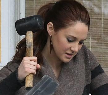 shailene woodley has a hammer
