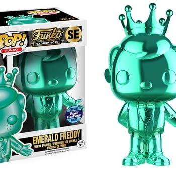 Funko HQ Grand Opening Emerald Freddy Pop