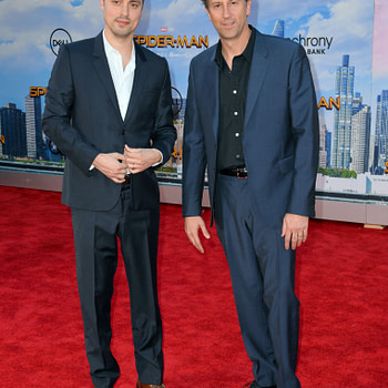 """LOS ANGELES, CA. June 28, 2017: Screenwriters Jonathan Goldstein & John Francis Daley at the world premiere of """"Spider-Man: Homecoming"""" at the TCL Chinese Theatre, Hollywood."""
