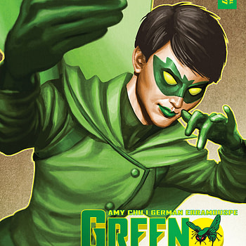 Green Hornet #1 cover by Mike Choi