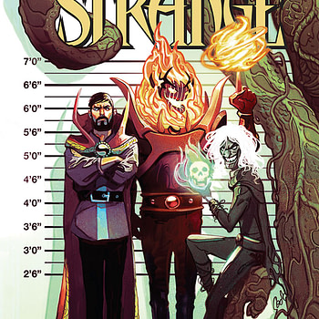 Doctor Strange #389 cover by Mike del Mundo
