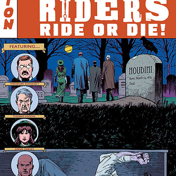 Rough Riders: Ride or Die #3 cover by Patrick Olliffe and Gabe Eltaeb
