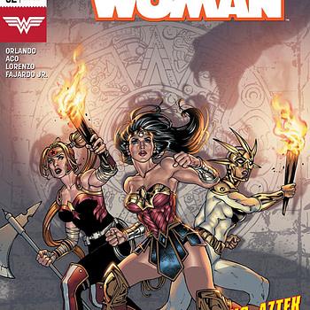 Wonder Woman #52 cover by David Yardin