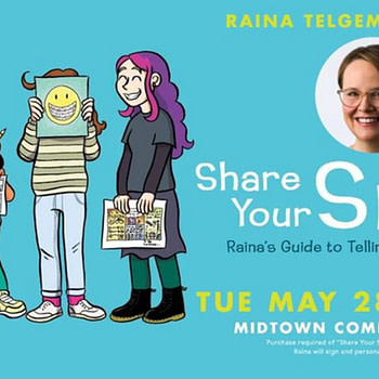 Tonight, Midtown Comic Hosts One Of Its Biggest Ever Signings - Raina Telegemier