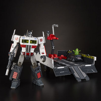 Transformers x Ghostbusters Optimus Prime Ecto-35 SDCC Exclusive Revealed