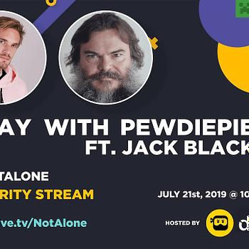 "PewDiePie & Jack Black Team Up For ""Minecraft"" Mental Health Charity"