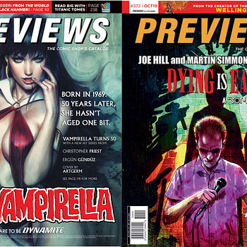 """Artgerm's Vampirella and Joe Hill and Martin Simmonds' """"Dying Is Easy"""" on Diamond Previews Covers Next Week"""