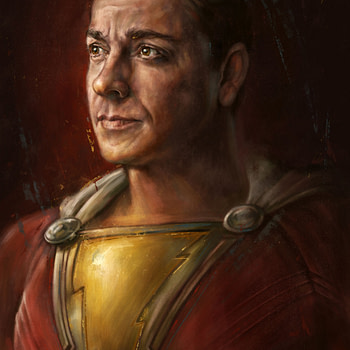 Shazam and Homelander portraits on sale Friday