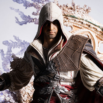Ezio Enters the Animus with New PureArts Statue