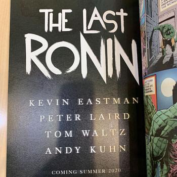 Teenage Mutant Ninja Turtles Creators Kevin Eastman and Peter Laird Team Up Again For The Last Ronin