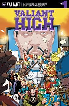 Valiant High #1 cover by David LaFuente and Brian Reber