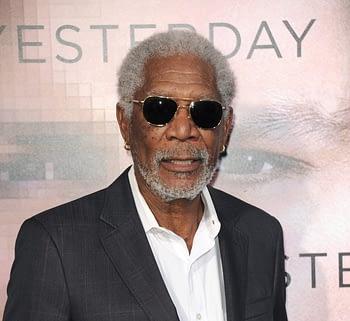 "Morgan Freeman at the Los Angeles premiere of ""Transcendence""."