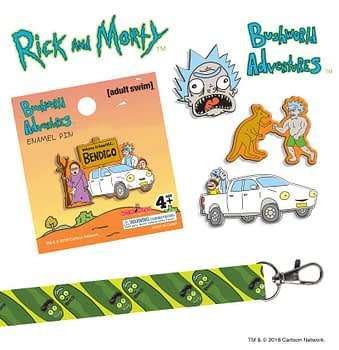 Rick and Morty Bushland Adventures SDCC Pins Hot Properties