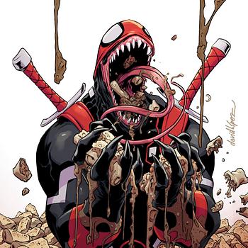 Deadpool 28 Lopez Venomized Variant