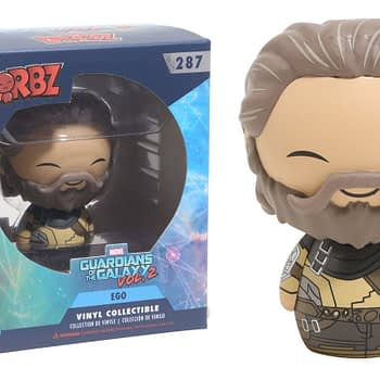 An image of the Guardians Galaxy 2 Ego Boxed Dorbz figure