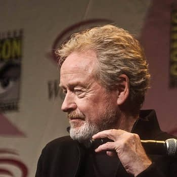 Director Ridley Scott talks about Prometheus at WonderCon 2012. Photo by Mary Anne Butler